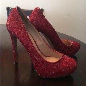 Sparkly red Nicholas Kirkwood heels!